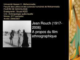 Bilan du Film Etnographique