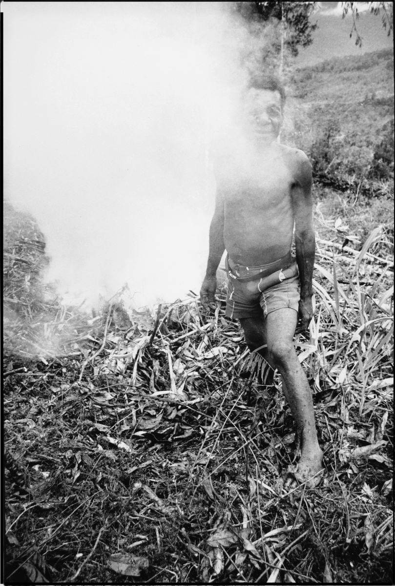 man with smoke